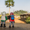 Playmobil Margy and Hans-Werner mini- me's. Nyasoso, Southwest Region, Cameroon Africa