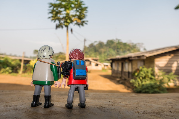 Playmobil Margy and Hans-Werner mini- me's. Nyasoso, Southwest Region, Cameroon Africa