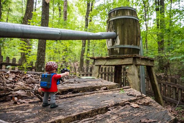 Whisky still. Madison County Nature Trail, Huntsville, Alabama USA