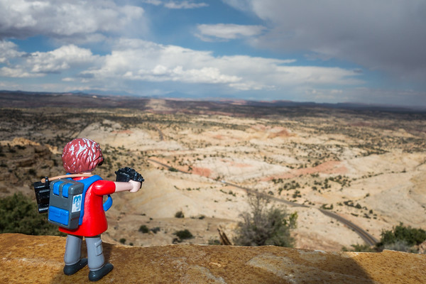 Playmobil photographer along State Route 12 Utah