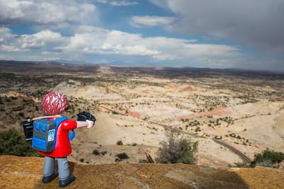 Playmobil photographer along State Route 12 Utah