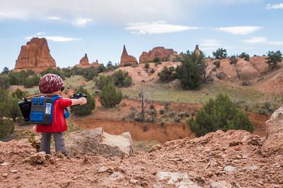 Playmobil photographer, Kodachrome Basin State Park, Utah