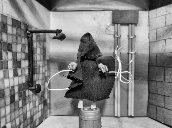 Playmobil CIA Torture Series: Wired in the Shower.