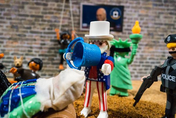 Playmobil CIA Torture Series: Uncle Sam waterboarding