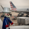 Uncle Sam flies American airlines. Waiting for takeoff. Dallas Forth Worth Airport.