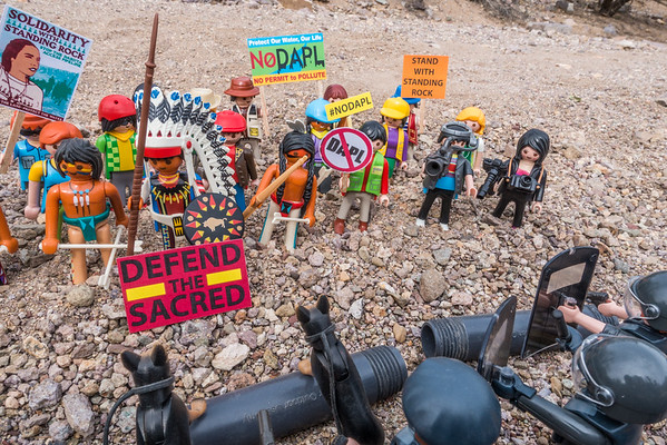 protestors. Anti-DAPL (Dakota Access Pipeline) protests. Standing Rock Indian Reservation, Cannon Ball, North Dakota USA