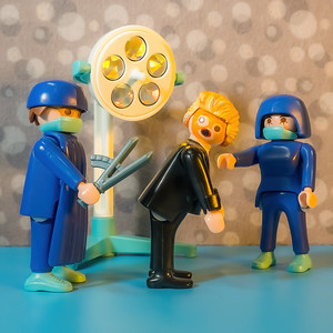 Playmobil Trump getting his Frontotemporal Dementia and progressive supranuclear palsy evaluated. Walter Reed National Military Medical Center, Bethesda Maryland USA