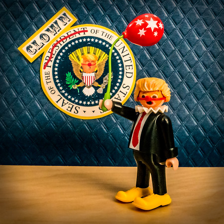 Clown of the United States, Donald Trump. Washington D.C.