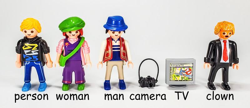 Person, Woman, Man, Camera, TV, Idiot Trump