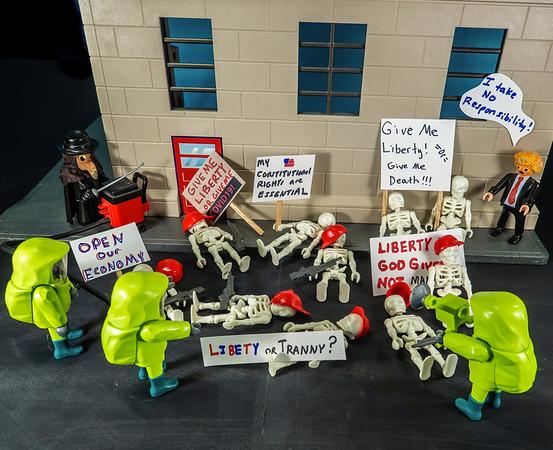 Trump COVIDIOTS 2020COVID-19 shutdown protests