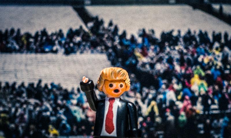 Tiny Crowds for Tiny Hands. Trump inaguration 2017. Washington D.C. USA