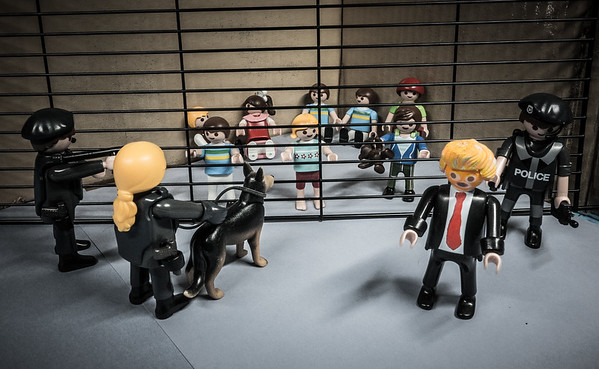 Trump visiting one of his Child Detention Centers set up by Jeff Sessions and ICE. Texas, USA