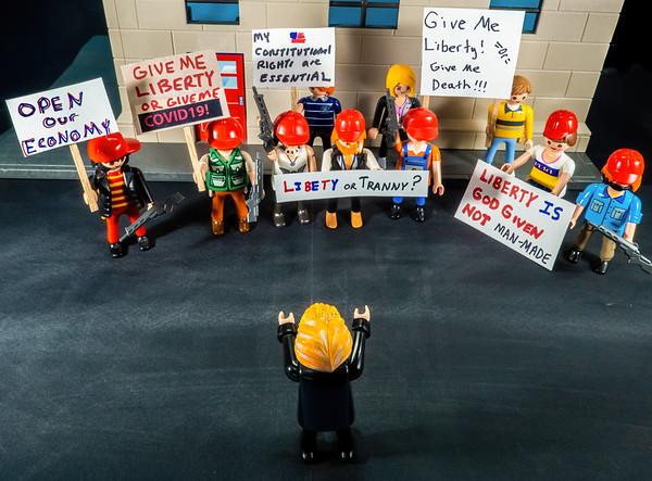 Trump Covidiots 2020 COVID-19 shutdown protests