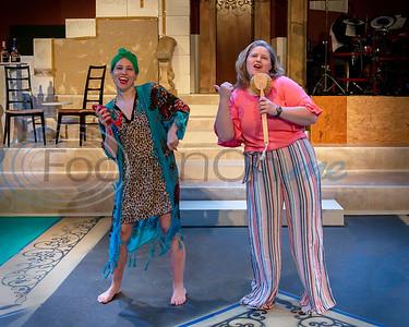 Dress Rehearsal for Mama Mia!  Tanya Skowen, Beck Bloomfield  (Don Spivey/FocusInOn.me)