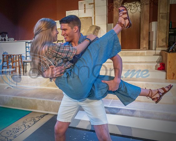 Dress Rehearsal for Mama Mia!. Auburn Hilliard, Zachary Prall  (Don Spivey/FocusInOn.me)