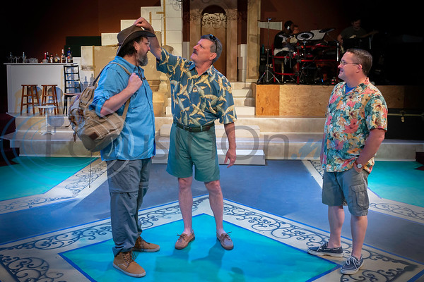 Dress Rehearsal for Mama Mia!  Paul Jones, Brad Echols, David Dickerson  (Don Spivey/FocusInOn.me)