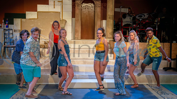Dress Rehearsal for Mama Mia!  Jesus Gonzalez, J.W. McFarland, Sarah Burchett, Allie Lake, Rickea Strogen, Tiffany Williams, Abbie Nourse, Jaylon Crump  (Don Spivey/FocusInOn.me)