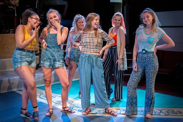 Dress Rehearsal for Mama Mia!  Rickea Strogen, Allie Lake, Abbie Nourse, Auburn Hilliard, Sarah Burchett, Tiffany Williams (Don Spivey/FocusInOn.me)