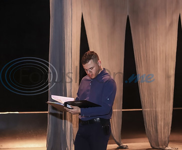 Patrick Richardson studies his lines before rehearsal of TJC'S production of Othello. Sarah Perez/Freelance