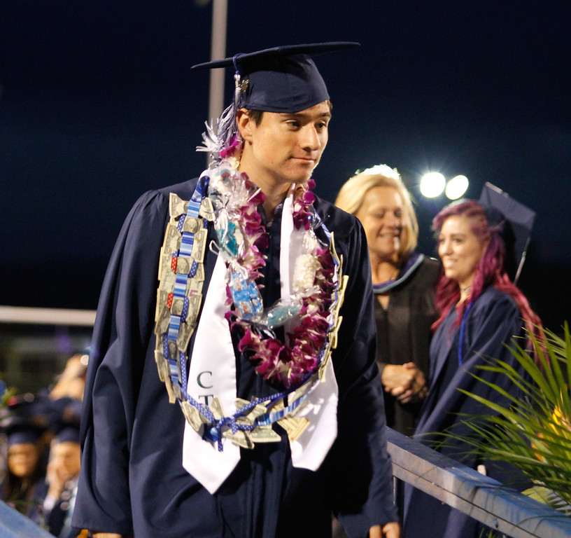 . Pleasant Valley High School commencement ceremony for the class of 2017 Tuesday June 7, 2017 in Chico, California. (Emily Bertolino -- Enterprise-Record)