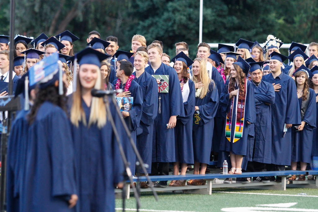 . Pleasant Valley High School commencement ceremony for the class of 2017 Wednesday June 7, 2017 in Chico, California. (Emily Bertolino -- Enterprise-Record)