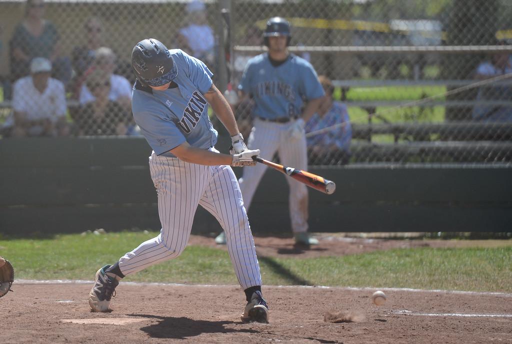 . Pleasant Valley High vs. Las Plumas High baseball, May 11, 2018,  in Chico, California. (Carin Dorghalli -- Enterprise-Record)