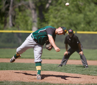 Red Bluff's Kolby Button pitches against Pleasant Valley during a doubleheader baseball game Tuesday April 18, 2017 at Doryland Field in Chico, California. (Emily Bertolino -- Enterprise-Record)