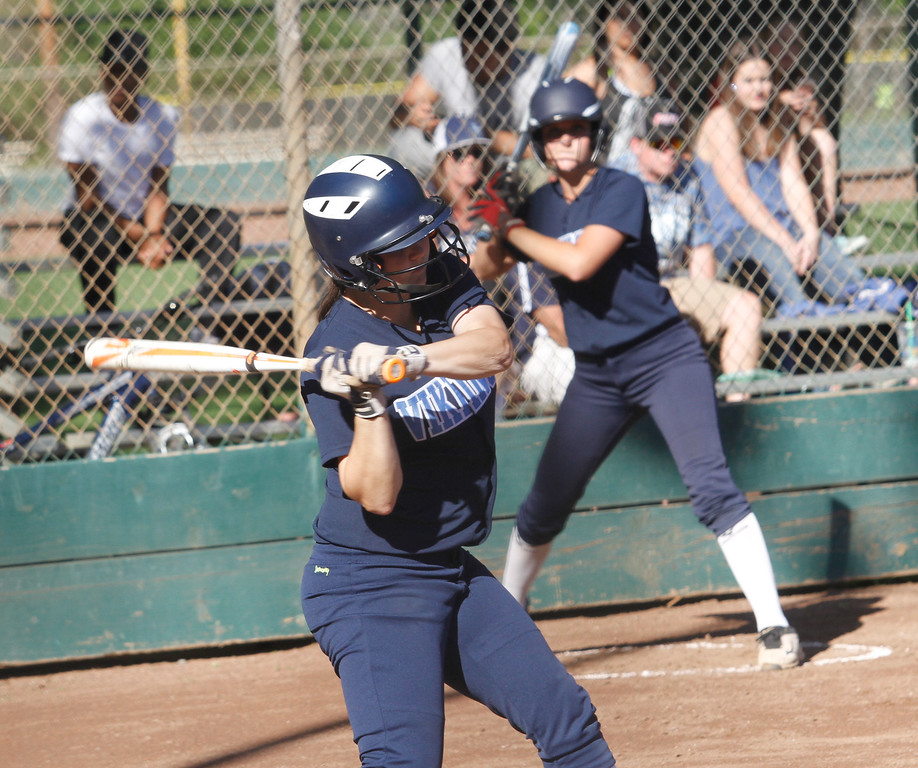 . TCross town rivals Pleasant Valley and Chico High School girls softball Thursday April 20, 2017 in Chico, California. (Emily Bertolino -- Enterprise-Record)