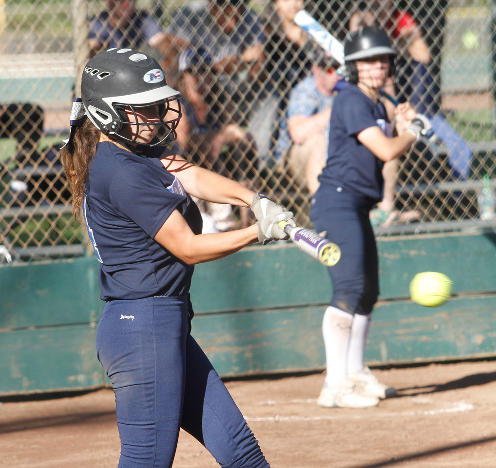 Cross town rivals Pleasant Valley and Chico High School girls softball Thursday April 20, 2017 in Chico, California. (Emily Bertolino -- Enterprise-Record)