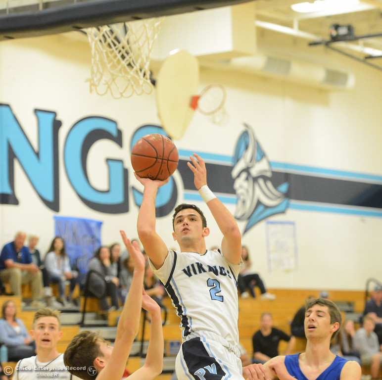 . Pleasant Valley\'s Jarin Polander goes up for a shot as the Vikings take on Tamalpais in the annual McDonald\'s Winter Classic Saturday December 9, 2017 at Pleasant Valley in Chico, California. (Emily Bertolino -- Enterprise-Record)