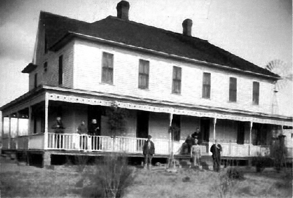 Very early image of the Old Folks Home - unknown date, and poor quality