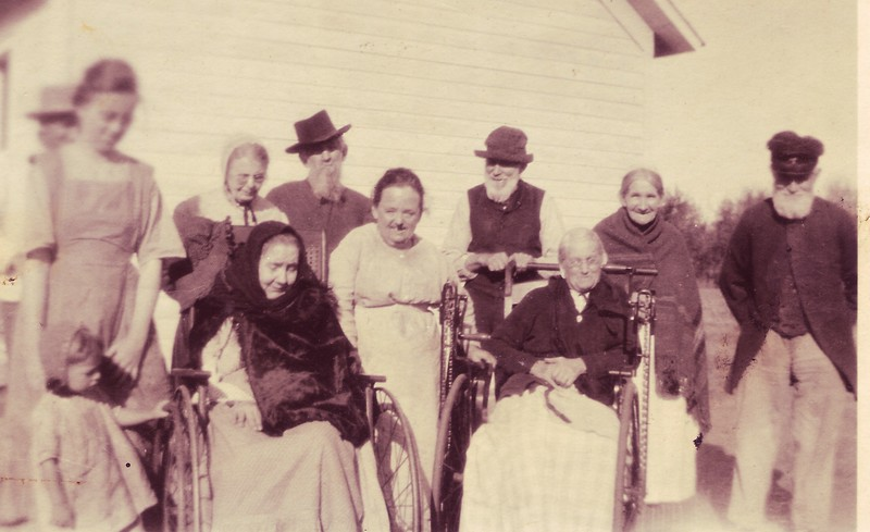Early photo of residents of the home. Unknown date.
