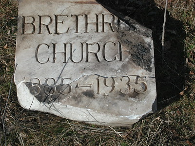 Cornerstone from 2nd Pleasant View Church of the Brethren. Dates are when 1st church was in operation.