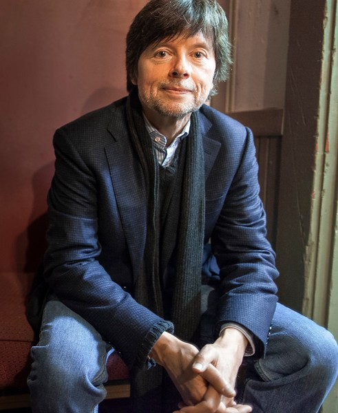 """Ken Burns waits backstage at the Latchis Theater's celebration of their recent renovations on October 19th in Brattleboro, VT.  Ken was there to speak about and show a segment from his upcoming documentary """"The Roosevelts: an Intimate History."""""""