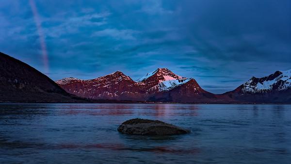 Majowa noc gdzieś w  Norwegii