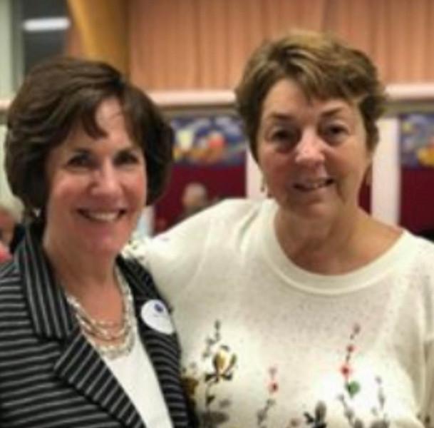 Team leader Sue Meenaghan and board member Kathy Clark, both of Chelmsford