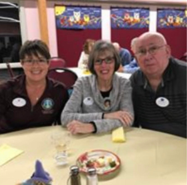 From left, Chelmsford Community Service Director Jen Melanson with volunteers Nancy Rager and Jim Burke