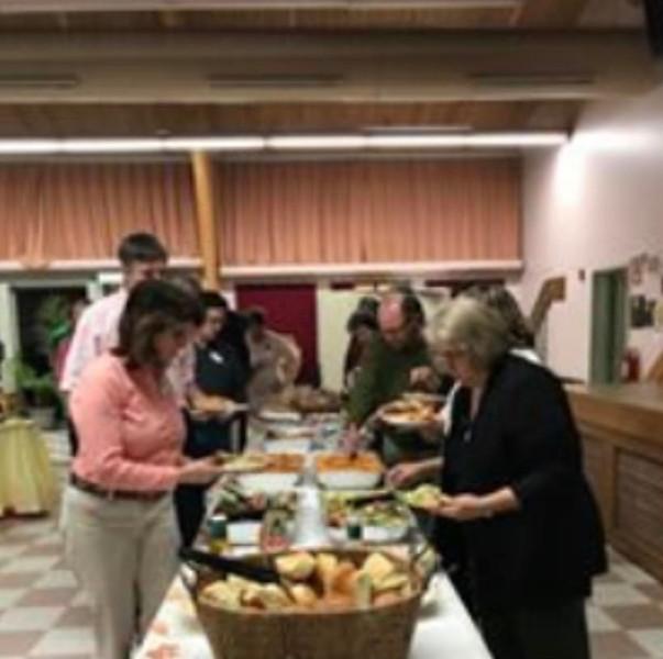Volunteers are honored at Table of Plenty's Volunteer Appreciation Dinner last October.