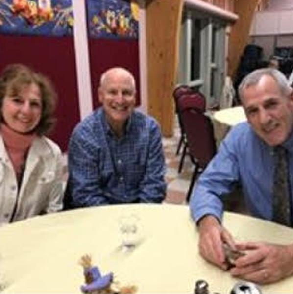 From left, volunteers Sandy and Ken Brody, and board member Joe Hehn, all of Chelmsford
