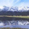 Mt. Huff reflecting in the Spring flood waters-Stampfli Lane near Crescent Mills, CA.