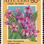 Plumeria rubra<br /> 1994 Cook Islands