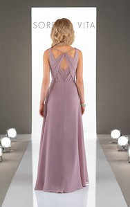 ROMANTIC GRECIAN BRIDESMAID DRESS STYLE 9072