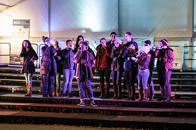 """The Plymouth North High School a capella group Northern Lights sings """"Rise"""".  Wicked Local Photo/Denise Maccaferri"""