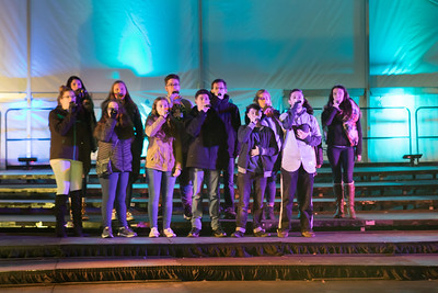 Plymouth South A Cappella group South Avenue sings a beautifully harmonized  version of the National Anthem .  Wicked Local Photo/Denise Maccaferri