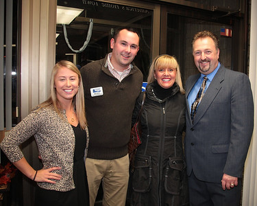 Plymouth Area Chamber of Commerce staff pose at the Business After Hours event at Plymouth & Brockton Street Railway Company on Thursday Oct 24.  From left, Meagan Doherty. Bob Nolet, Pam Boucher,  Executive Director Denis Hanks. Missing from photo,  Amy Naples, Amy Clark.