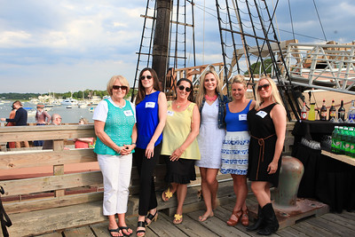 Bay Shore Staffing employees enjoy the beautiful weather and the PACC Business After Hours event at the Mayflower II.Wicked Local Photo/Denise Maccaferri