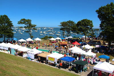 The weather was perfect on Saturday for the annual Downtown Plymouth Waterfront Festival .