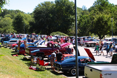 Many Plymouth Downtown Waterfront Festival goers took the walk up to the Plimoth Grist Mill to admire the over 130 customized cars and trucks on display at the Head's Cruise-In Car Show.