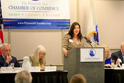State Rep Kathy LaNatra spoke about The Future of Work Commission that she is on and how important it is to hear from local business leaders, economists, College Presidents and other stakeholders to ensure we are prepared with training our future workforce as well as ways to recruit our workforce.
