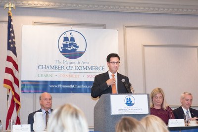 Vinny deMacedo,  State Senator for the Plymouth and Barnstable District, speaks about the status of Opioids use in Massachusetts. The good news amidst a all the bad being that opioids prescriptions in MA. were down 51% over the past year. Wicked Local Photo/Denise Maccaferri